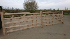 Traditional hand made gates