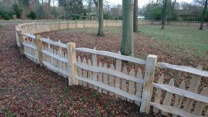 cleft oak fence