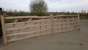 cleft oak gates