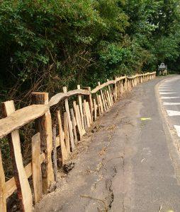 #Charlecote #cleft oak fence #oak fence